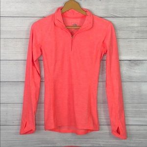 The North Face - 1/4 Zip Pullover Orange/Pink- XS